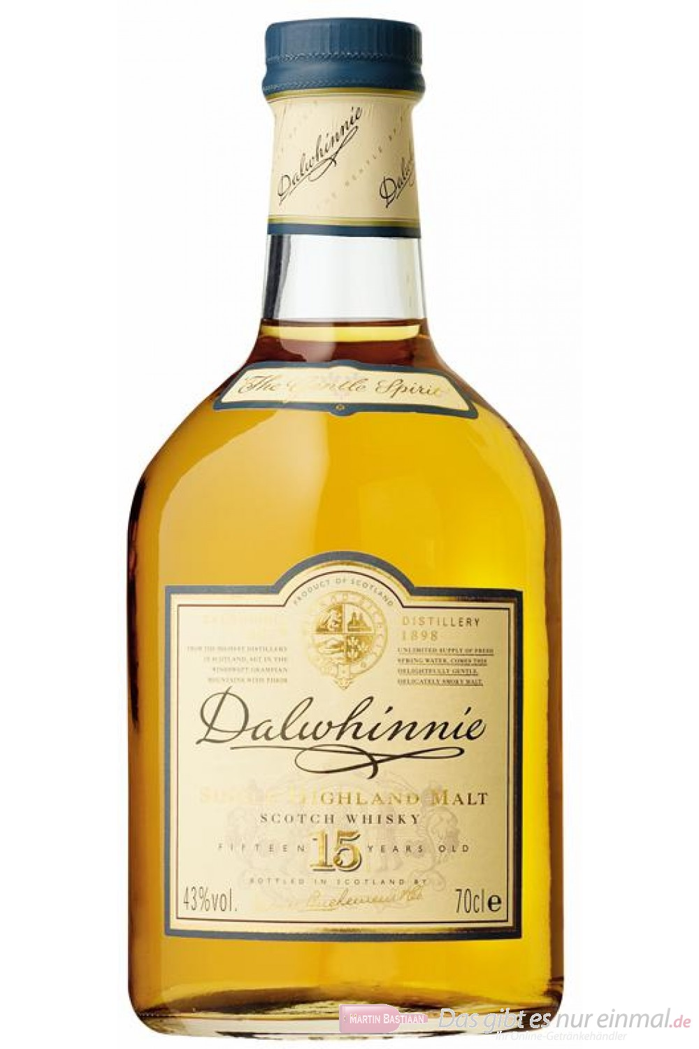 Dalwhinnie 15 years Scotch Pure Malt Whisky 43 % 0,7l Flasche