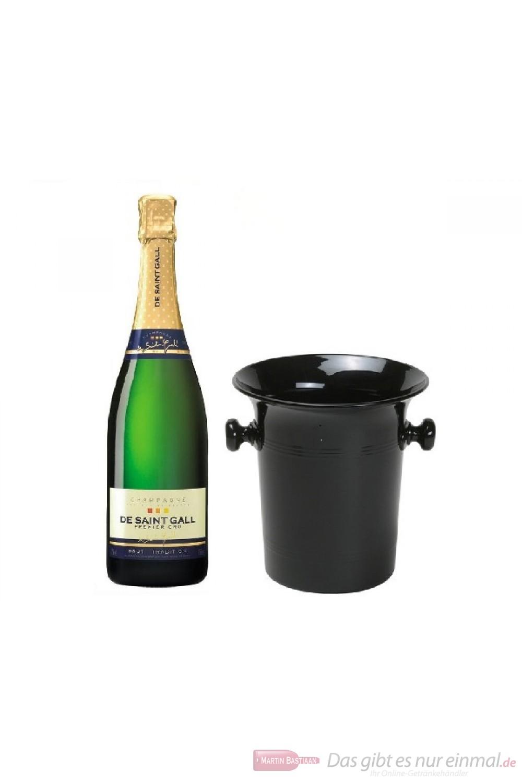 De Saint Gall Champagner Brut Tradition im Champagner Kübel 0,75l