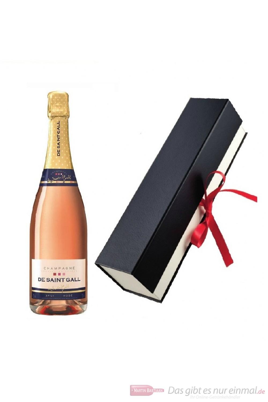 De Saint Gall Brut Rosé Champagner in Geschenkfaltschachtel