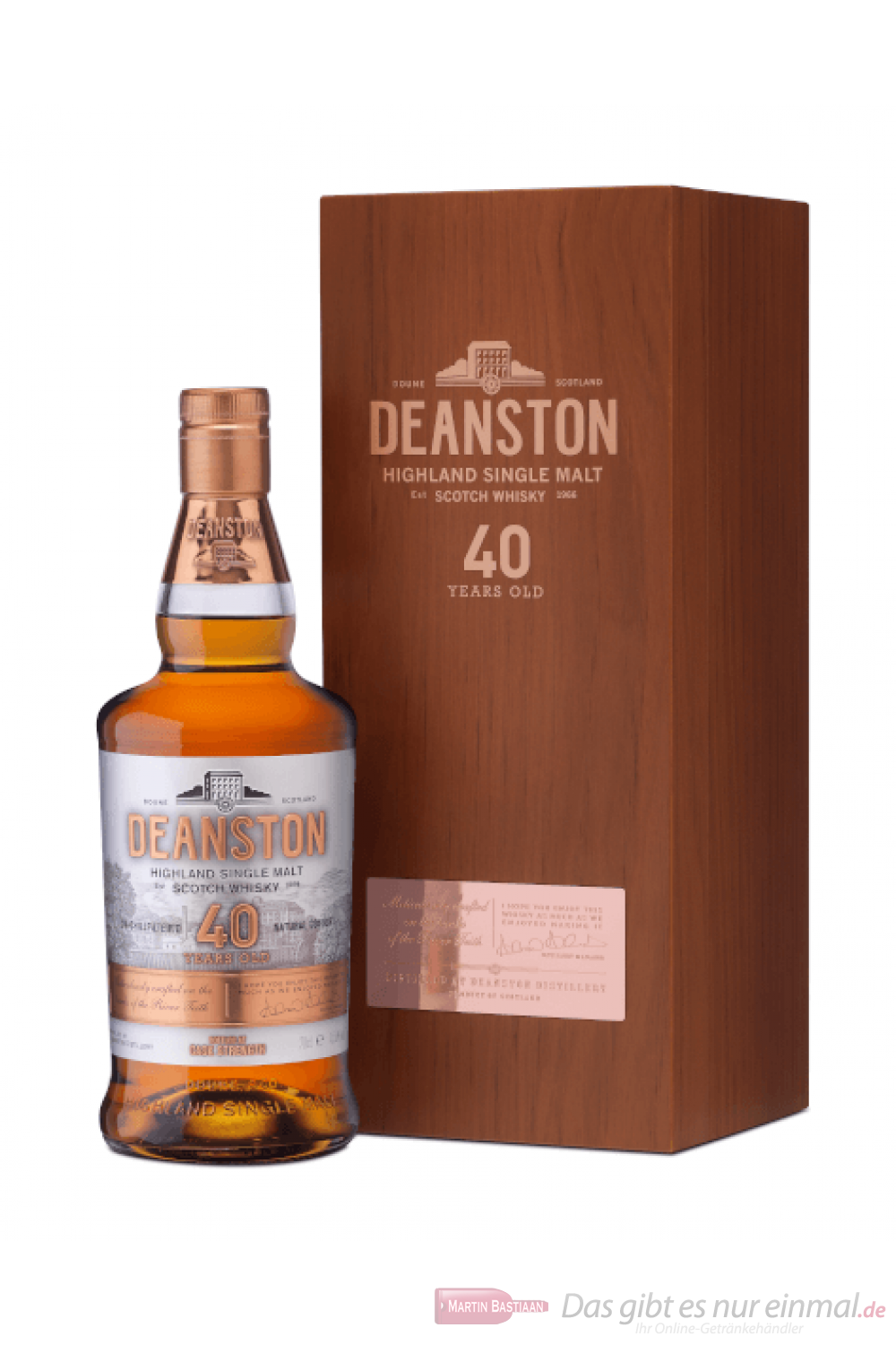 Deanston 40 Years Highland Single Malt Scotch Whisky 0,7l
