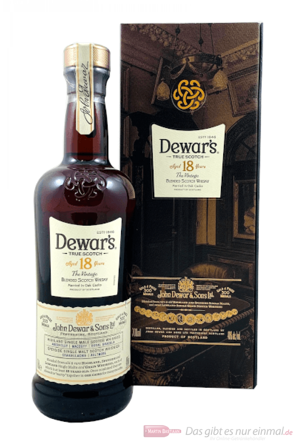 Dewar´s 18 Years Blended Scotch Whisky 0,7l