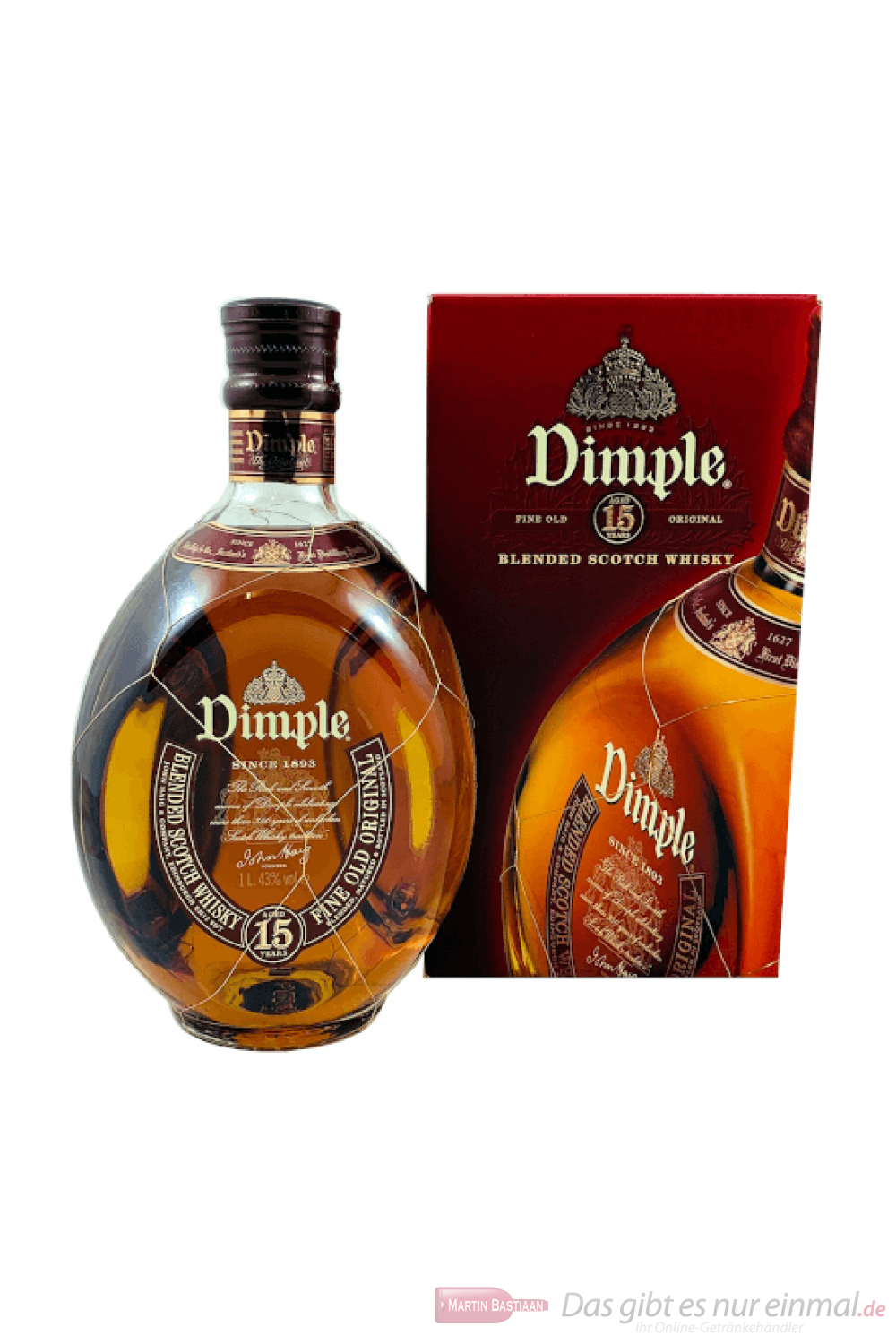 Dimple Scotch 15 Jahre Blended Scotch Whisky 1l