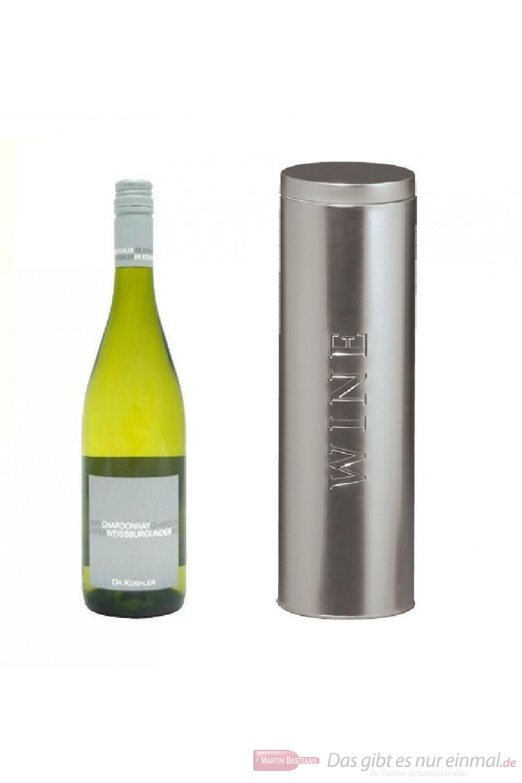 Dr. Köhler Weißburgunder / Chardonnay Qba trocken Weißwein 2010 12,5% 0,75l Flasche in Metalldose Wine