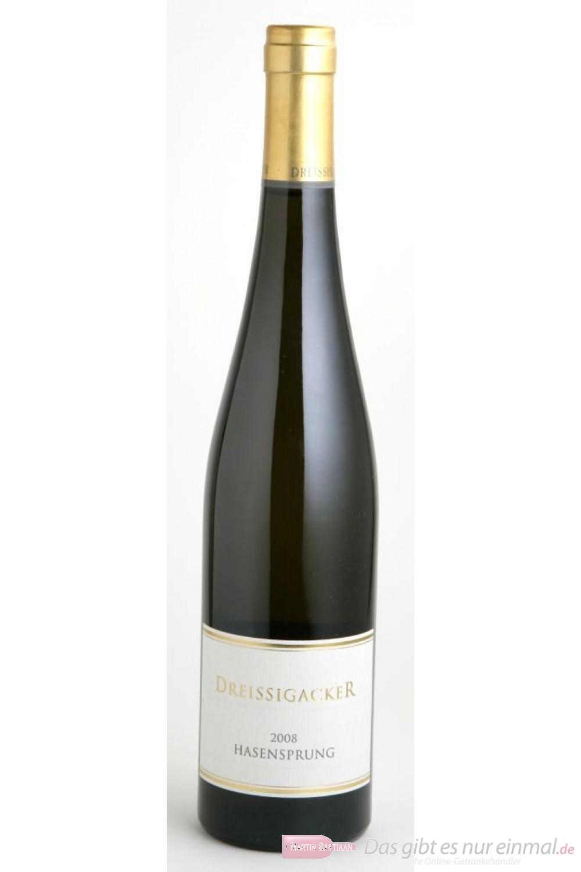 Dreissigacker Bechtheimer Hasensprung Riesling Weißwein Qba trocken 2008 12,5% 0,75l Flasche