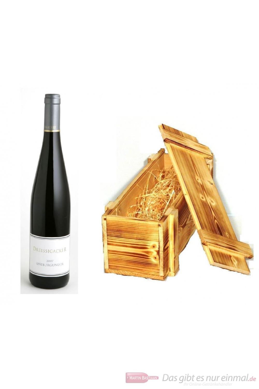 Dreissigacker Spätburgunder Qba trocken 2006 Rotwein 12,5% 0,75l Flasche in Holzkiste geflammt