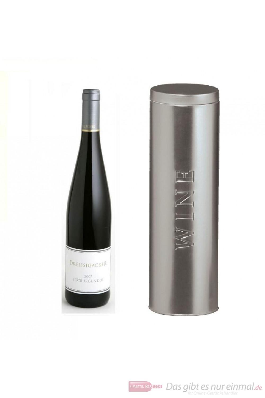 Dreissigacker Spätburgunder Qba trocken 2006 Rotwein 12,5% 0,75l Flasche in Metalldose Wine