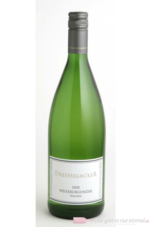 Dreissigacker Weissburgunder Weißwein Qba trocken 2009 12,5% 1,0l Flasche