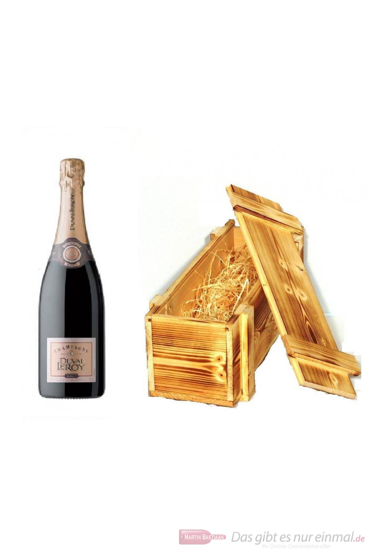 Duval Leroy Champagner Brut in Holzkiste geflammt 12 % 0,75l Flasche