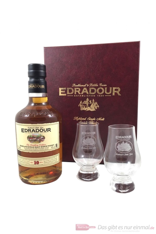Edradour 10 Years mit Gläsern