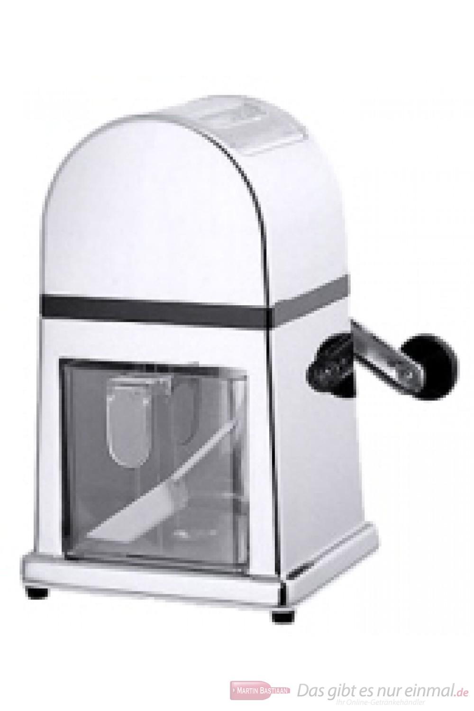 Contacto Eismühle zur Zerkleinerung von Eiswürfeln verchromt schwere Qualität mit robustem Mahlwerk