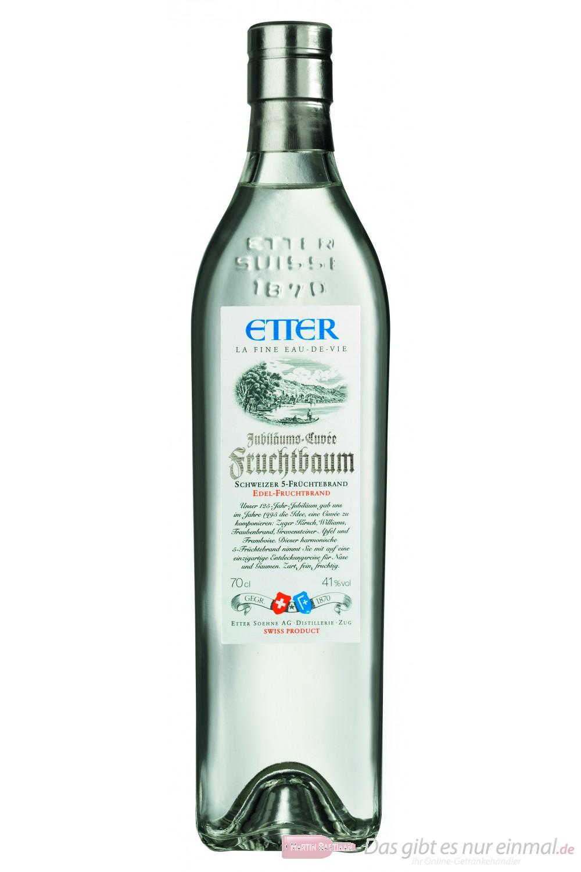 Etter Fruchtbaum 5-Früchtebrand Obstbrand 41% Obstler 0,7l Flasche