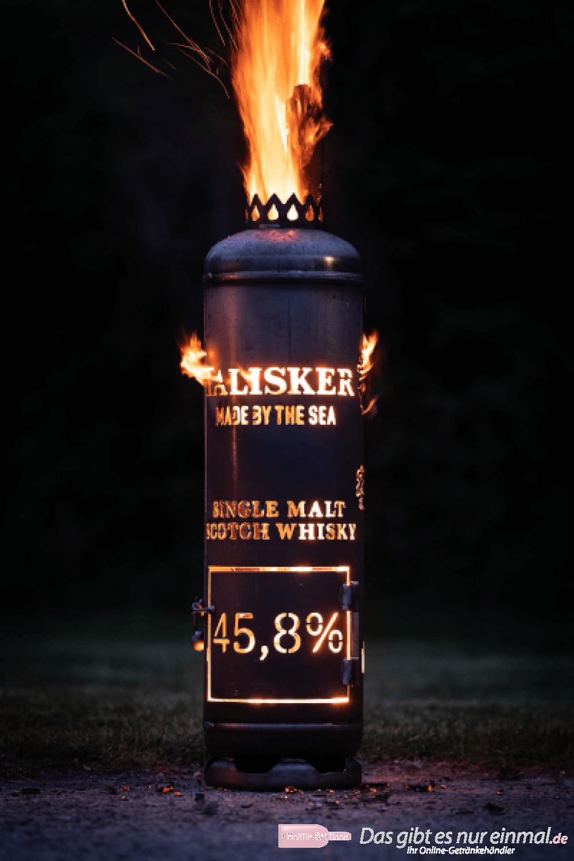 Talisker Whisky Feuerstelle mit Tür Vorderansicht