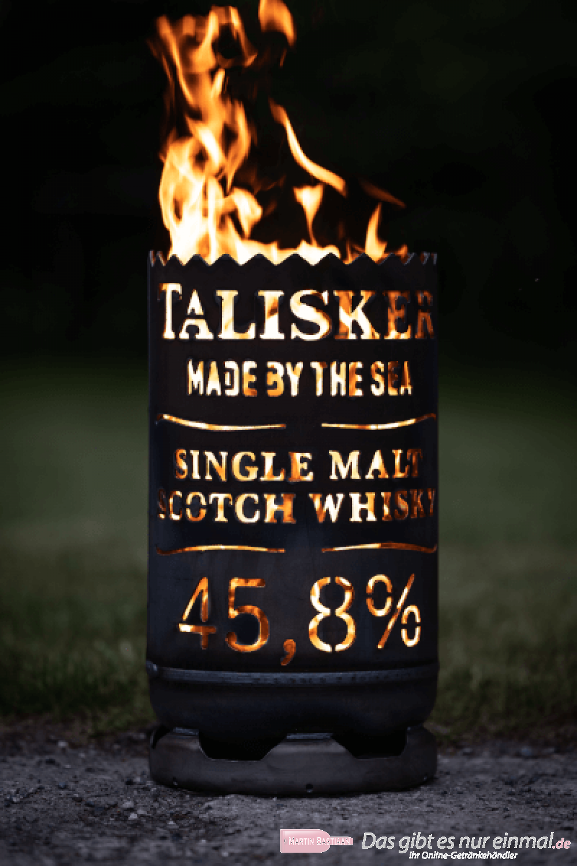 Talisker Whisky Feuertonne circa 60 cm