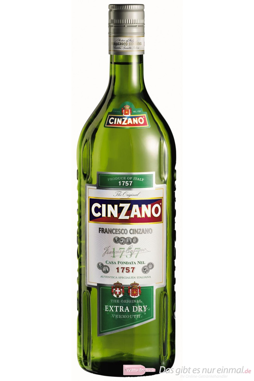 Cinzano Wermut Extra Dry 15% 0,75l Vermouth Flasche