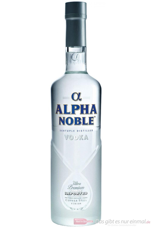 Alpha Noble Wodka 40% 1,0l Vodka Flasche