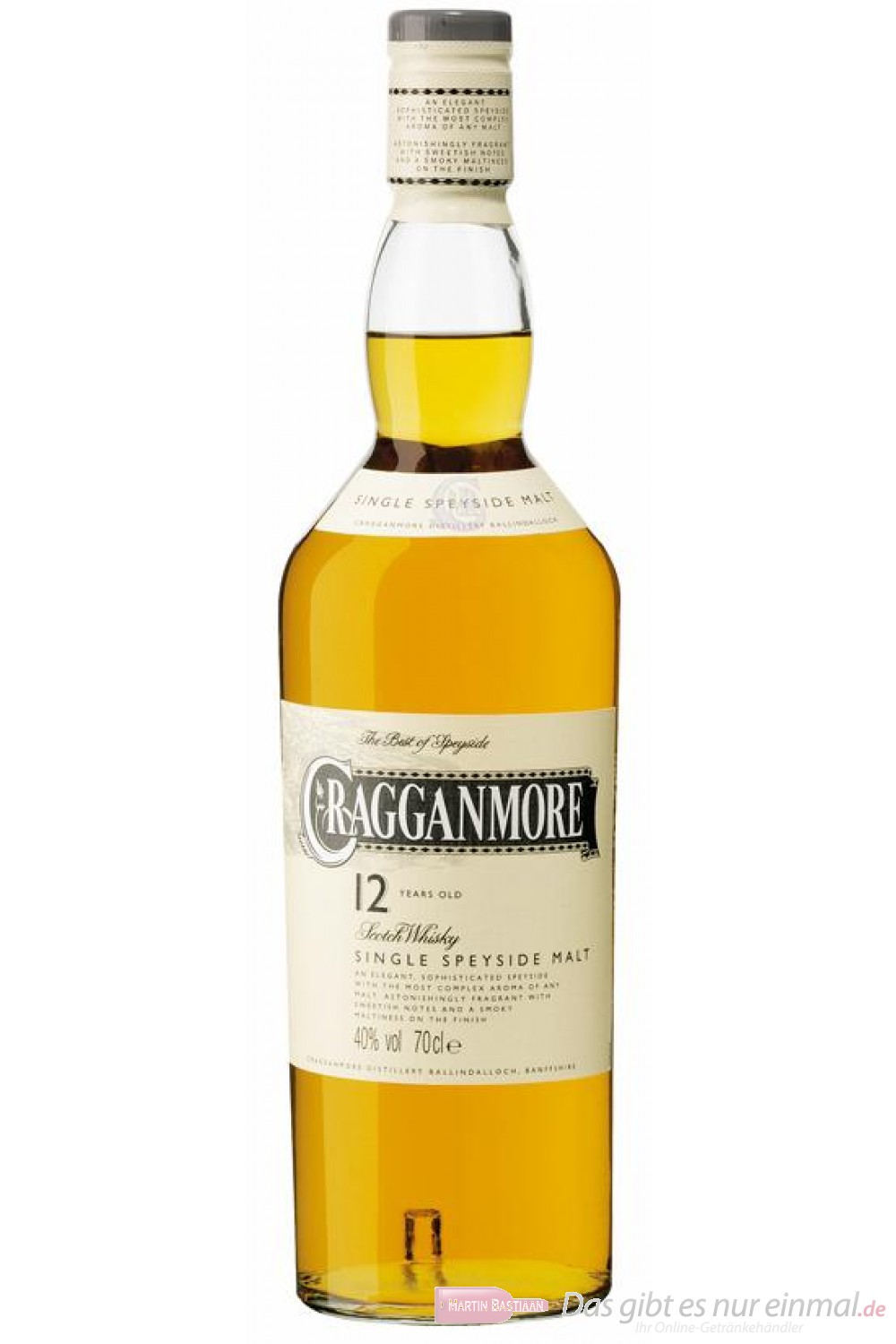 Cragganmore 12 years Speyside Scotch Pure Malt Whisky 40% 0,7l