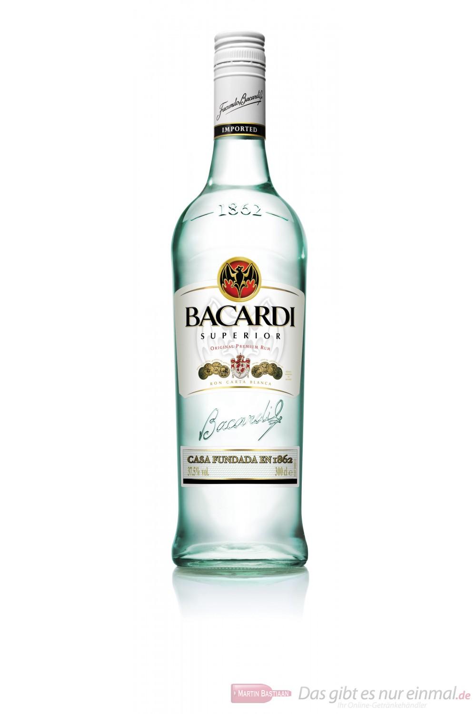 Bacardi Rum Superior Ron 37,5% 3,0l Großflasche