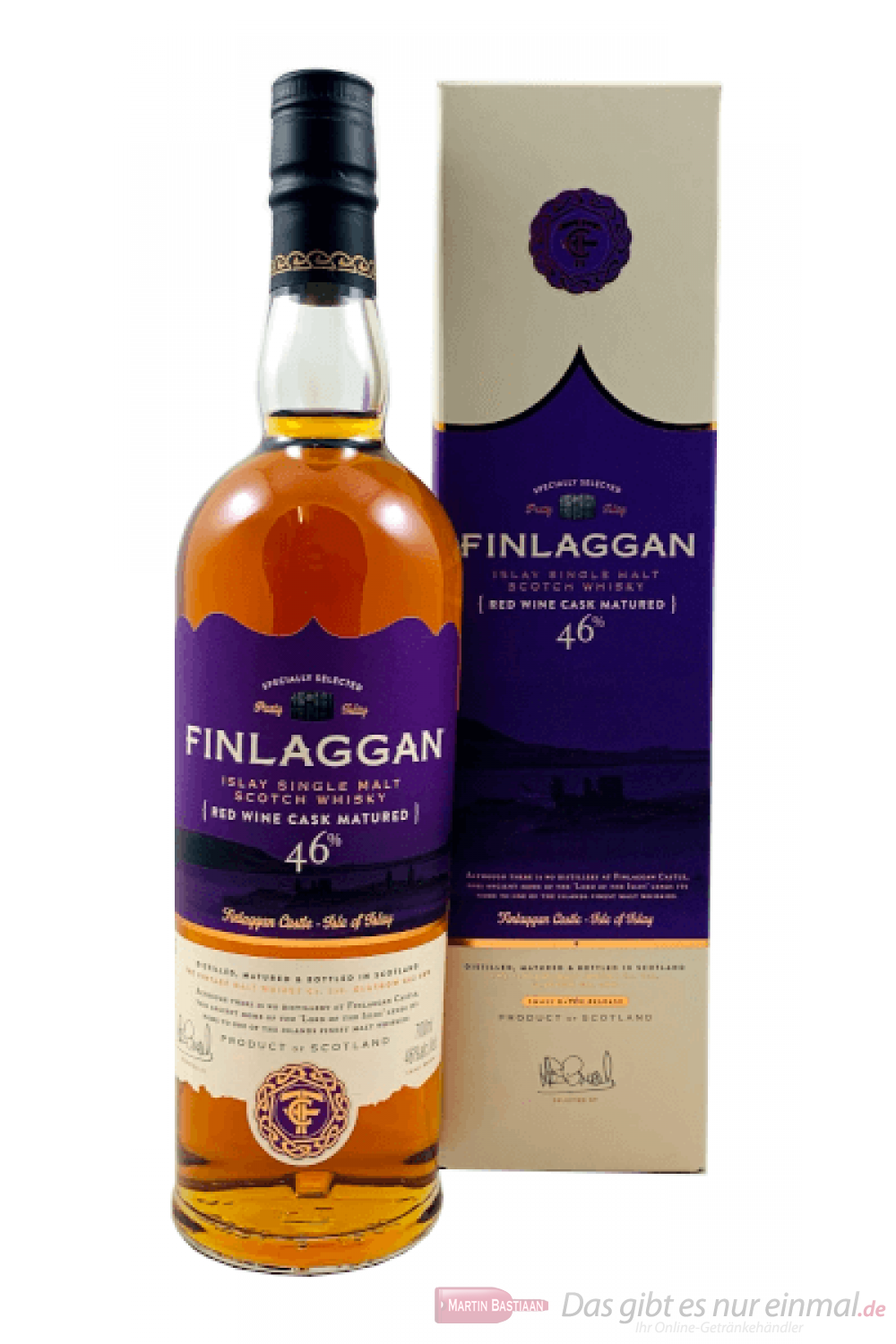 Finlaggan Red Wine Cask Matured Single Malt Scotch Whisky 0,7l
