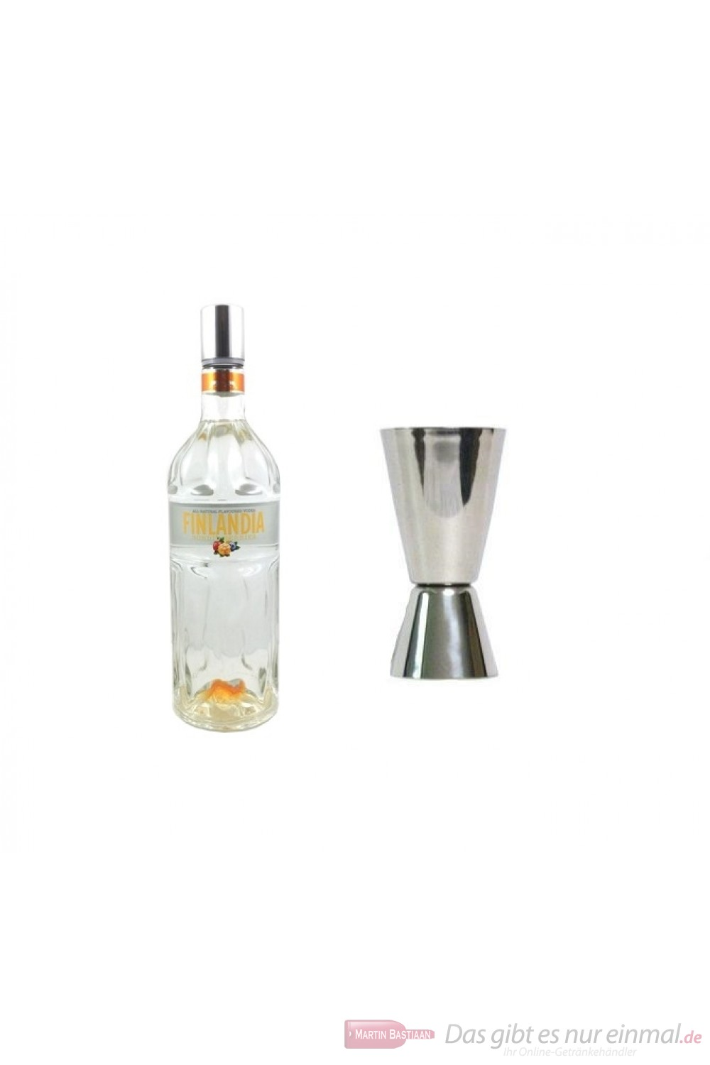 Finlandia Vodka Nordic Berries 1,0l + Messbecher