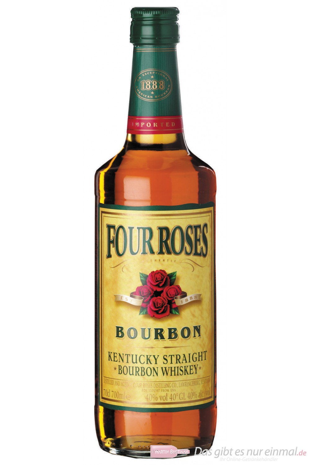 Four Roses Kentucky Straight Bourbon Whiskey 40% 0,7l Flasche