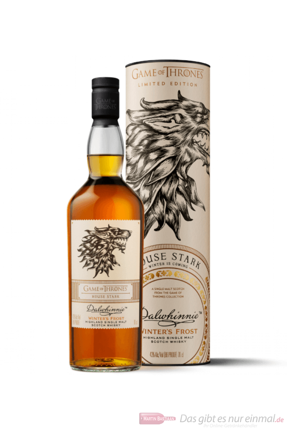 Game of Thrones House Stark Dalwhinnie Winter's Frost Whisky 0,7l