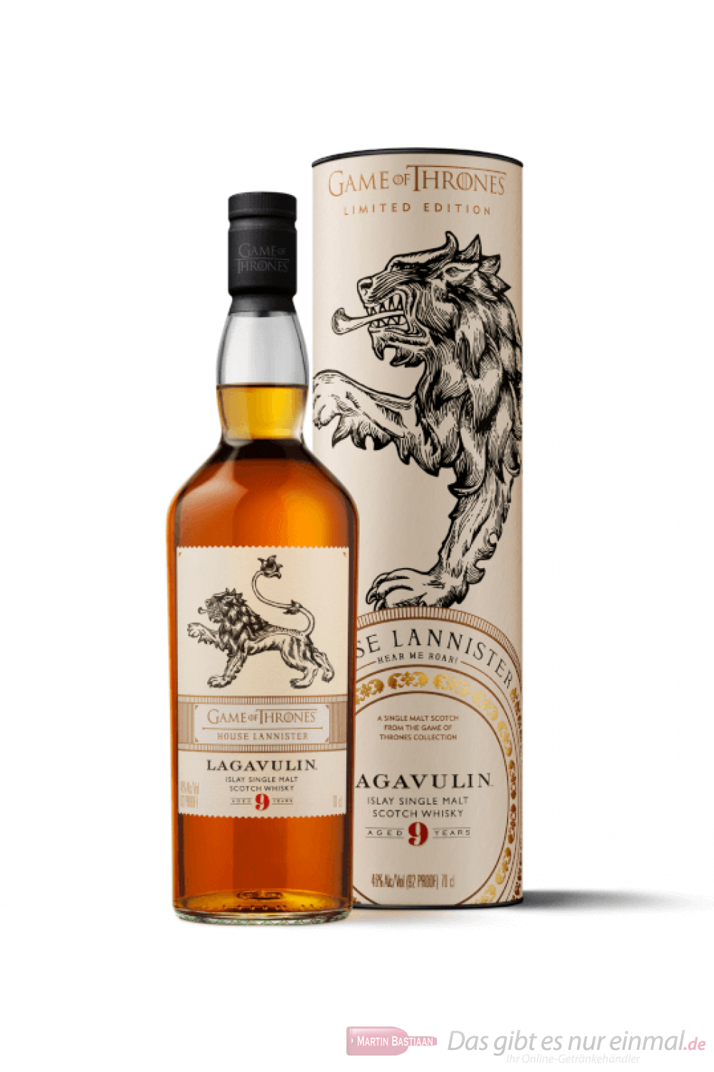 Game of Thrones House Lannister Lagavulin 9 Years Whisky 0,7l
