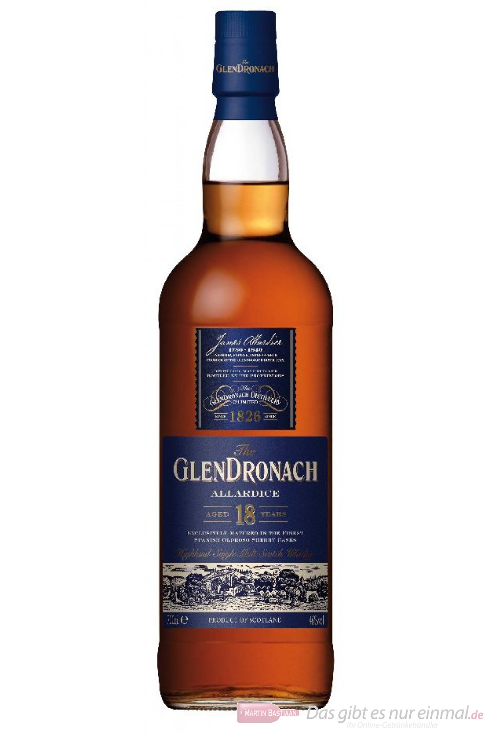Glendronach 18 Years Allardice Highland Single Malt Scotch Whisky 40% 0,7l Flasche