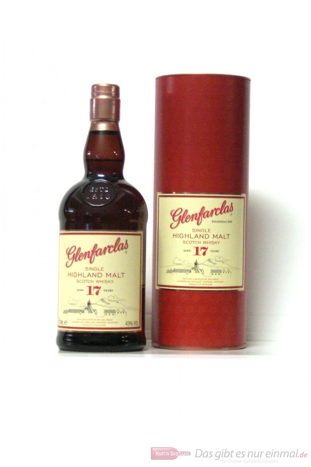 Glenfarclas 17 Years Single Highland Malt Scotch Whisky 43% 0,7l Flasche