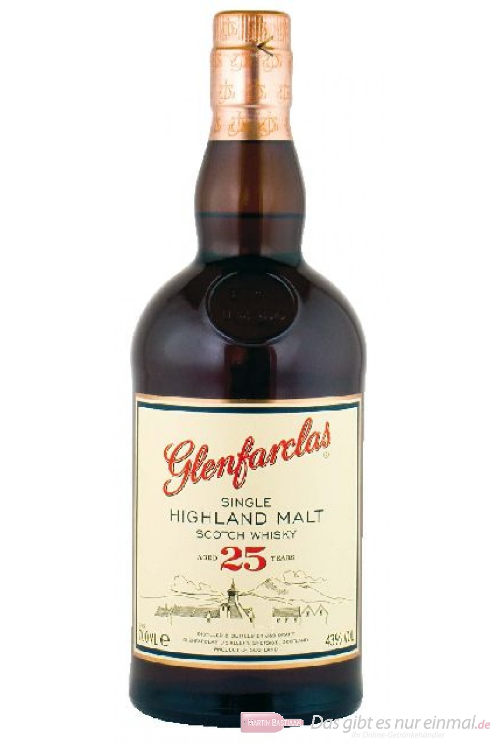 Glenfarclas 25 Years Single Highland Malt Scotch Whisky 43% 0,7l Flasche