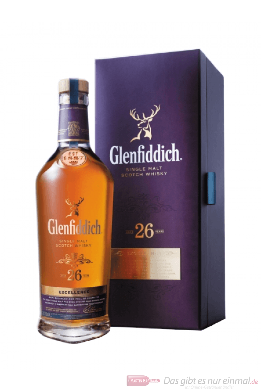 Glenfiddich 26 Years Excellence Single Malt Scotch Whisky 0,7l