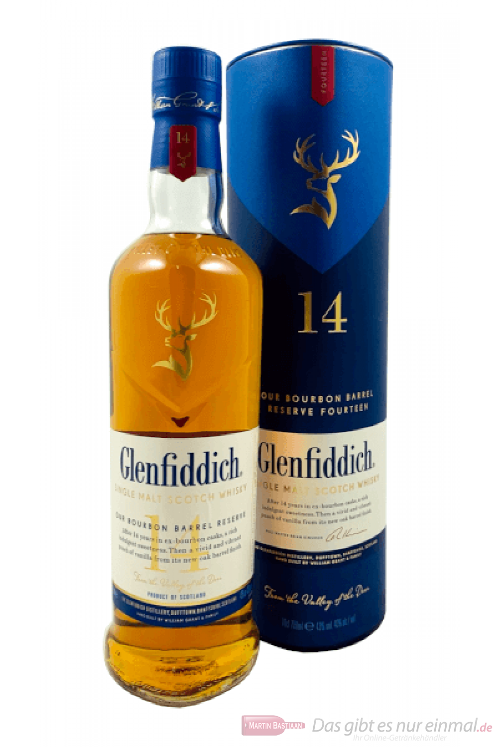 Glenfiddich 14 Years Bourbon Barrel Reserve Single Malt Scotch Whisky 0,7l