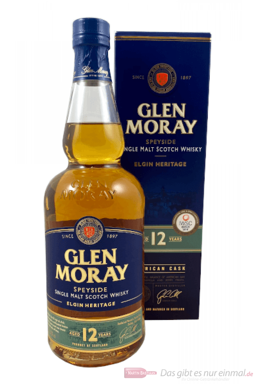 Glen Moray 12 Years Single Malt Scotch Whisky 0,7l