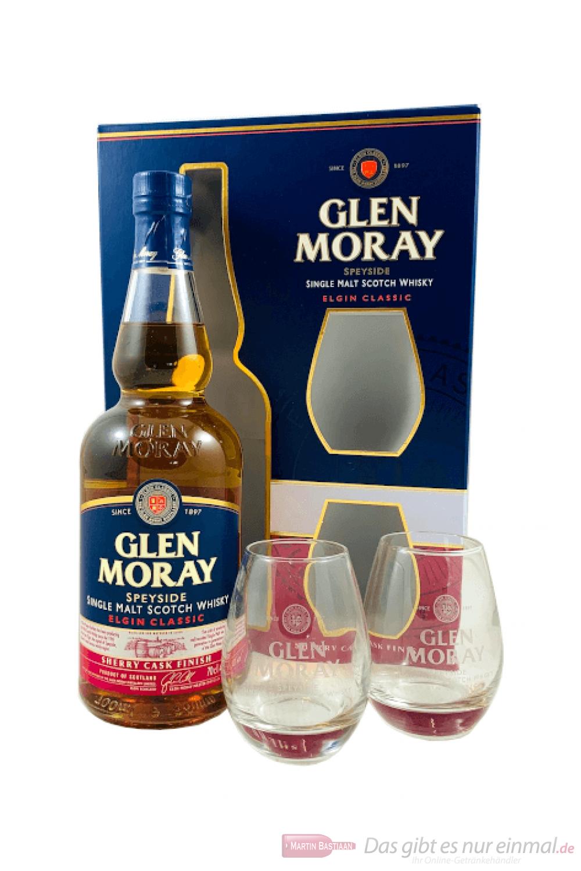 Glen Moray Sherry Cask Finish mit Glas Single Malt Scotch Whisky 0,7l