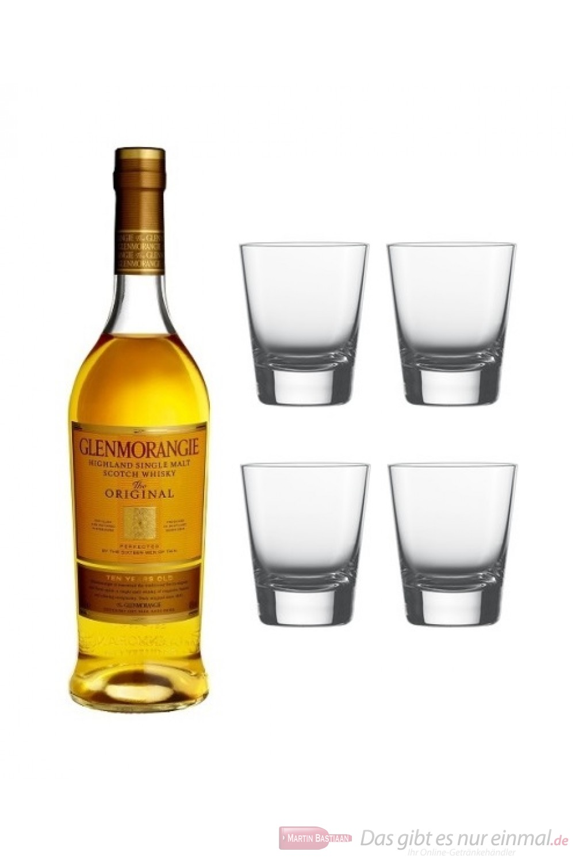 Glenmorangie Original mit 4 Glaesern