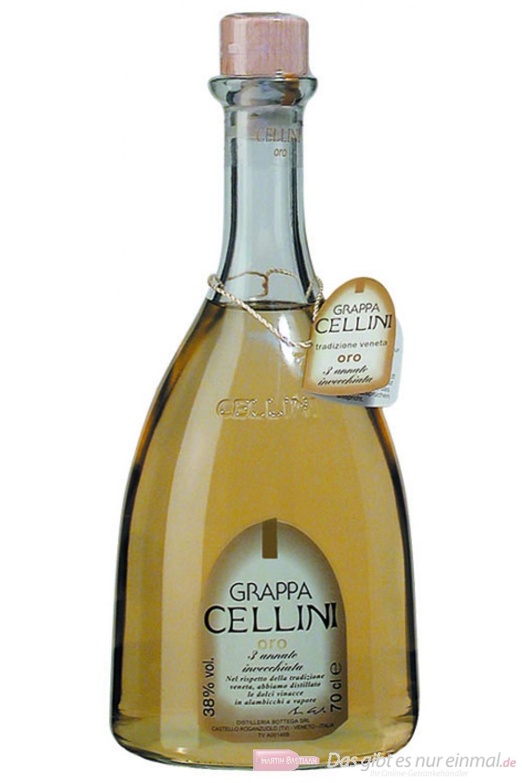 Grappa Cellini Oro 38% 0,7l Flasche