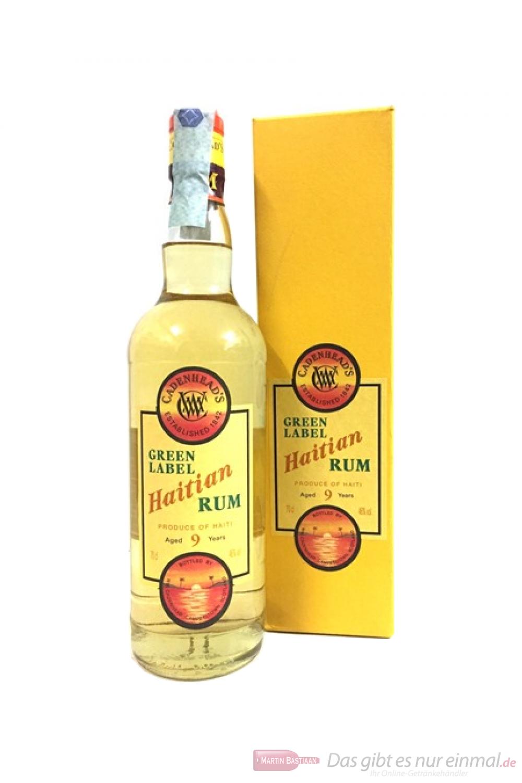 Cadenhead's Haitian Green Label Rum 9 Years