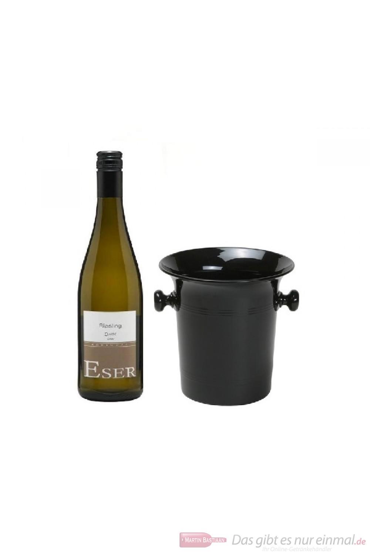 Hans Theo Eser Riesling Classic Qba tr. Weißwein 2014 0,75l Wein Kübel