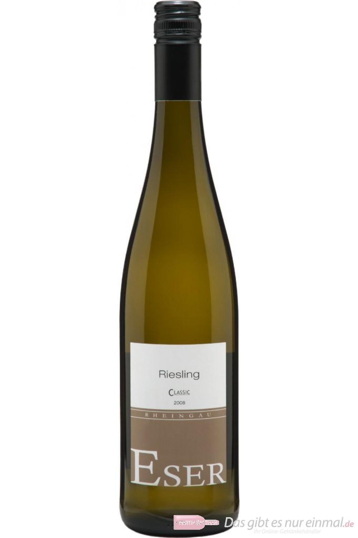 Hans Theo Eser Riesling Classic Qba trocken Weißwein 2010 11,5% 0,75l Flasche