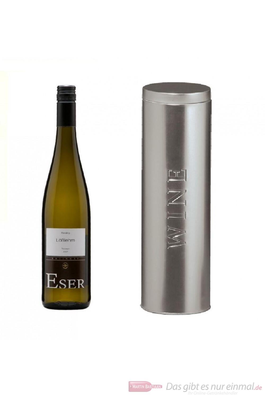 Hans Theo Eser Riesling Lößlehm Qba trocken Weißwein 2008 11,5% 0,75l Flasche in Metalldose Wine