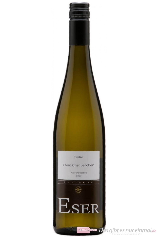 Hans Theo Eser Riesling Oestricher Lenchen Kabinett trocken Weißwein 2011 11,5% 0,75l Flasche