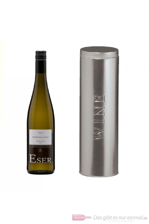 Hans Theo Eser Riesling Oestricher Lenchen Kabinett trocken Weißwein 2011 11,5% 0,75l Flasche in Metalldose Wine