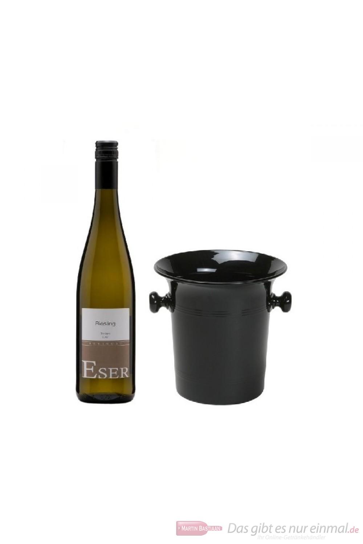 Hans Theo Eser Riesling Qba trocken Weißwein 2016 1,0l Holzkiste