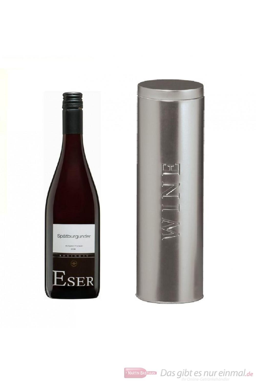 Hans Theo Eser Spätburgunder Qba trocken Rotwein 2010 12,5% 0,75l Flasche in Metalldose Wine