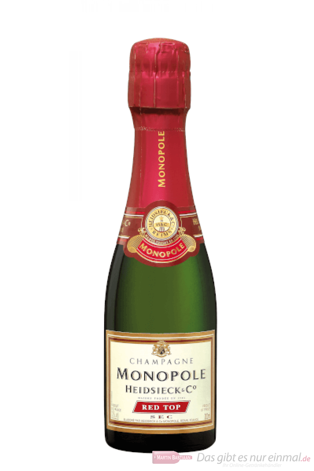 Heidsieck Monopole Red Top Brut Champagner 0,2l Piccolo Flasche