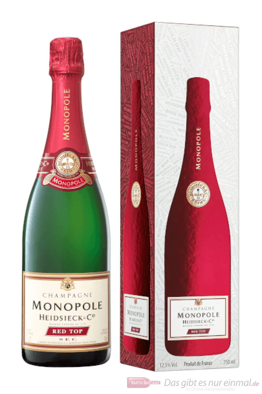 Heidsieck Monopole Red Top Brut Champagner in Geschenkverpackung 0,75l