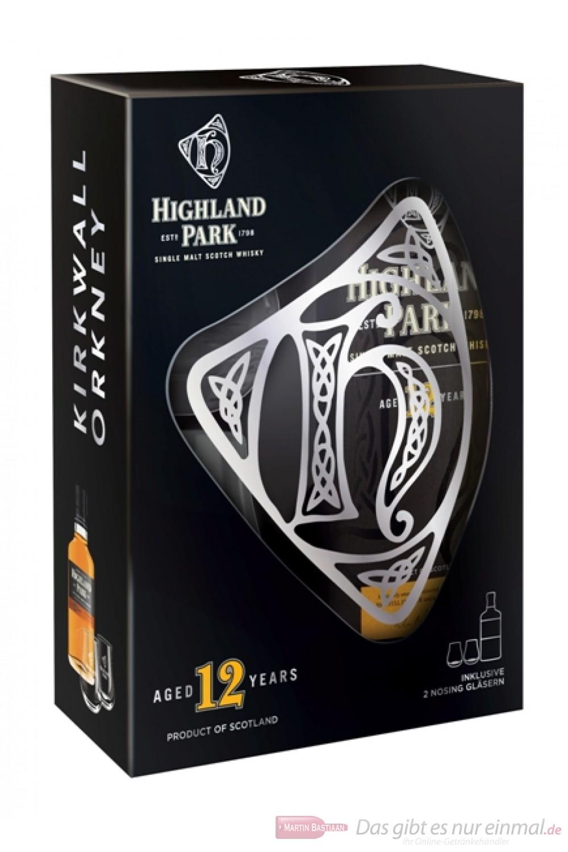 Highland Park 12 Jahre in GP mit 2 Gläsern