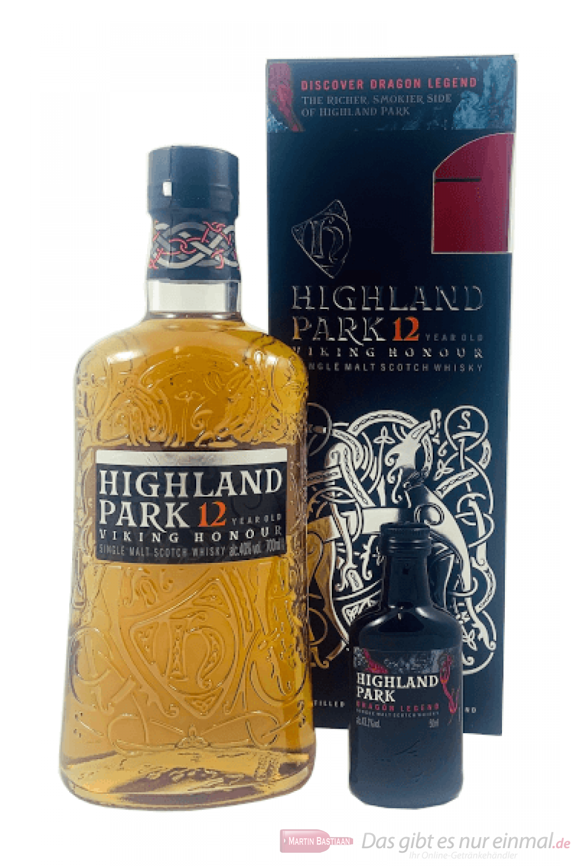 Highland Park 12 Years Viking Honour + Miniatur Single Malt Scotch Whisky 0,7l