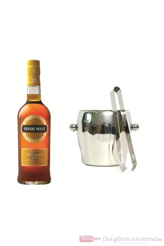 Irish Mist Whisky Likör 35 % 0,7l Liqueur Flasche + Eiskübel 1l und Eiszange