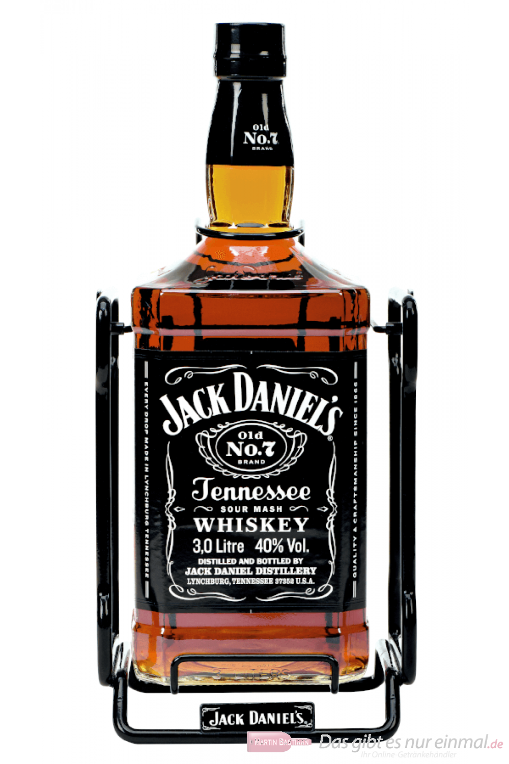 Jack Daniels mit Wippe Tennessee Whiskey 3,0l