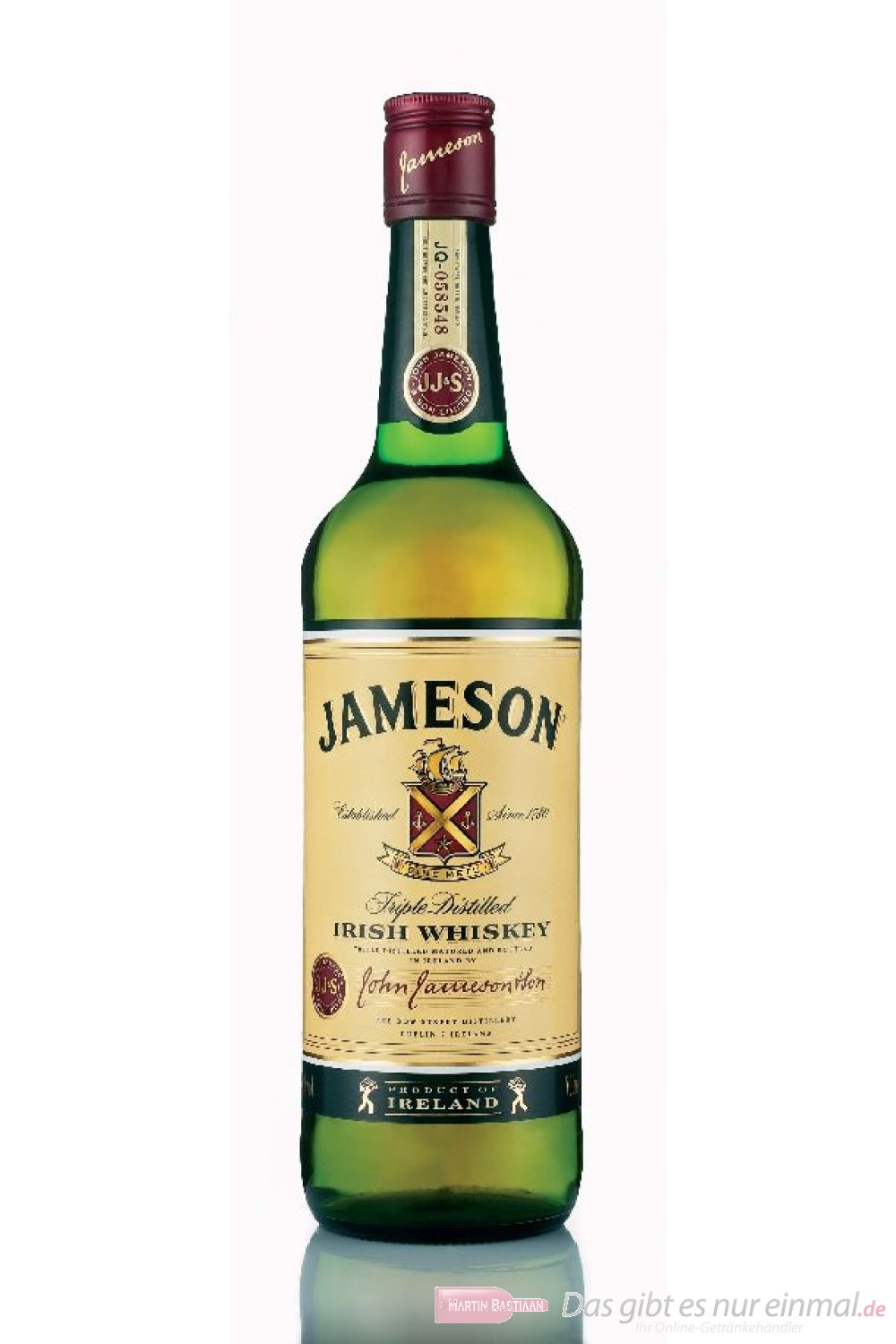 Jameson Irish Whiskey 40% 0,7l Flasche